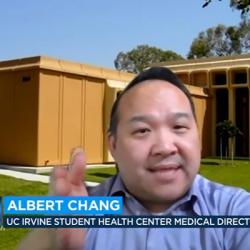 Dr. Albert Chang speaking via Zoom on news