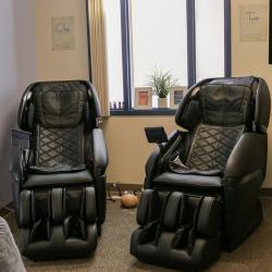Two massage chairs in the Center for Student Wellness & Health Promotion's Wellness Room